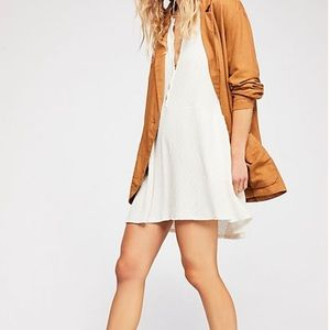 Free People Beach Button Up Shirt Dress